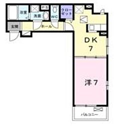 東武東上線 志木駅 バス10分 宗岡下車 徒歩3分の賃貸アパート 1階1DKの間取り