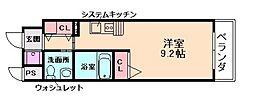 セレブコート木川[8階]の間取り