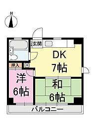 第2むさしマンション[3階]の間取り