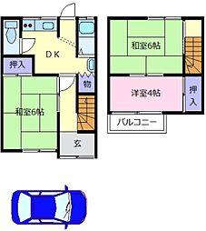 [一戸建] 大阪府松原市東新町1丁目 の賃貸【/】の間取り