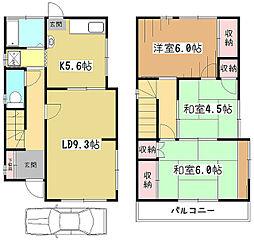 [一戸建] 東京都東大和市南街3丁目 の賃貸【/】の間取り
