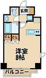 AZEST田無 8階1Kの間取り