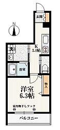 東京メトロ有楽町線 小竹向原駅 徒歩5分の賃貸マンション 1階1Kの間取り