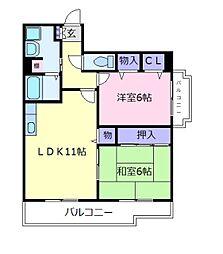 メゾンドプリマベーラ[5階]の間取り