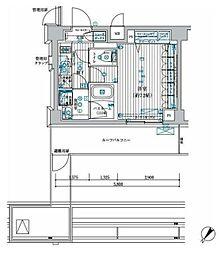ブライズ中野南台 6階1Kの間取り