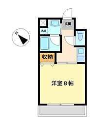 愛知県豊田市金谷町4の賃貸マンションの間取り