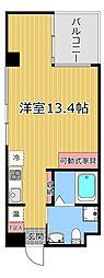エスキュート魚崎 地下6階ワンルームの間取り