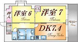 ときわ垂水レクラン[3階]の間取り