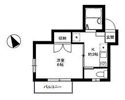 コンフォール吉祥寺[2階]の間取り