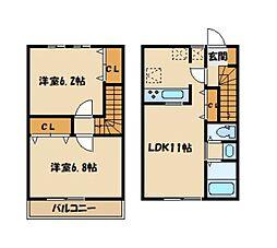 maison monreve 1階2LDKの間取り