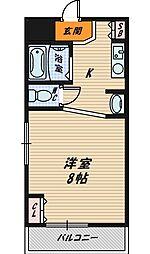 サニティ野江[4階]の間取り
