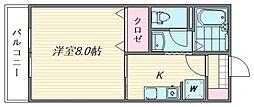 セジュールM・S[113号室]の間取り