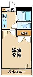 神奈川県相模原市中央区宮下本町3丁目の賃貸アパートの間取り