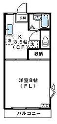 神奈川県川崎市高津区二子5丁目の賃貸アパートの間取り