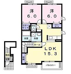 プリマヴェーラ A[2階]の間取り