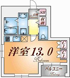 オアシスコーベ[4階]の間取り
