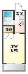 愛知県豊橋市曙町字測点の賃貸マンションの間取り