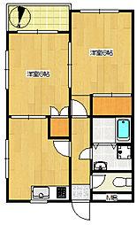 第153新井ビル[401号室]の間取り