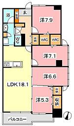 PIER倉敷[6階]の間取り