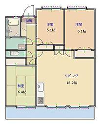 MAST筑紫通り[7階]の間取り
