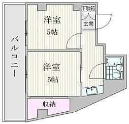 アウローラマンション大塚 4階2Kの間取り