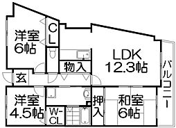 リシャールコート[2階]の間取り