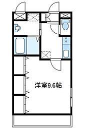 神奈川県厚木市温水西1丁目の賃貸マンションの間取り