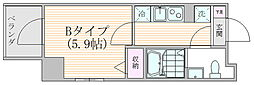 ザ・プレシャス武蔵小杉 7階1Kの間取り