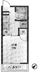 神奈川県横浜市保土ケ谷区星川1丁目の賃貸アパートの間取り