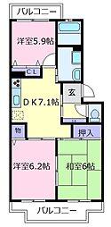 Maison KiRaRa[1階]の間取り