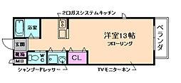 大阪府豊中市南桜塚1丁目の賃貸アパートの間取り
