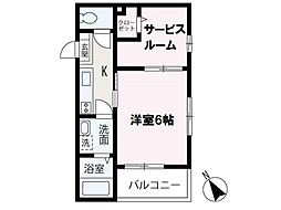 (s)Best Stage鶴瀬I 1階1SKの間取り