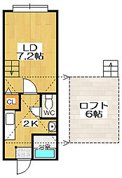 stage小樽[102号室]の間取り