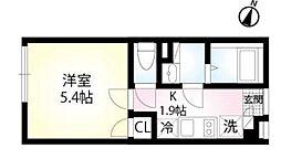 (仮称)練馬区田柄4丁目 2階1Kの間取り