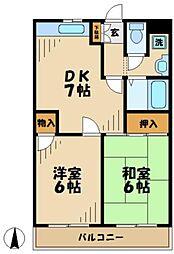 東京都多摩市鶴牧1丁目の賃貸マンションの間取り