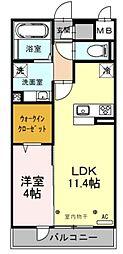 西武池袋線 武蔵藤沢駅 徒歩4分の賃貸アパート 2階1LDKの間取り