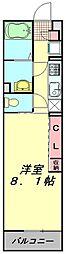 東武東上線 東武霞ヶ関駅 徒歩3分の賃貸マンション 3階1Kの間取り