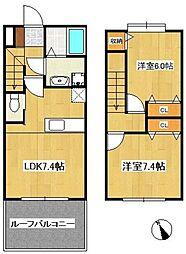 casa del resto2[205号室]の間取り