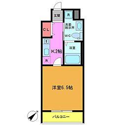 フォセット南行徳[2階]の間取り