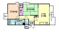 コーポ加島II[2階]の間取り