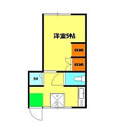 パーク横浜[1階]の間取り
