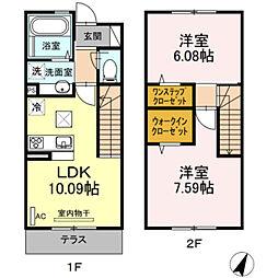 [テラスハウス] 神奈川県川崎市麻生区栗木台2丁目 の賃貸【/】の間取り