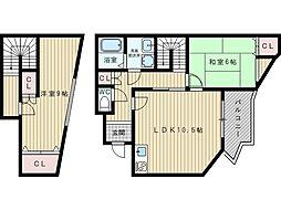 グランディール紫苑[1階]の間取り