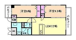 ホープハウスII[2階]の間取り