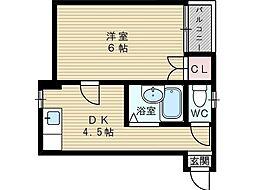 メイト淡路[3階]の間取り
