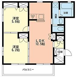 神奈川県川崎市幸区小倉5丁目の賃貸マンションの間取り