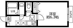 DSコート・21・INOKATA 1階1Kの間取り