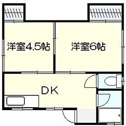 あおい荘[3階]の間取り