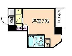 アミューゼ21[7階]の間取り