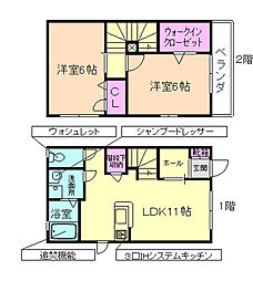 Soryumo(ソリュモ) 1階2LDKの間取り